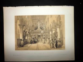 David Roberts Holy Land 1887 Print. Chapel of the Convent of St. Catherine